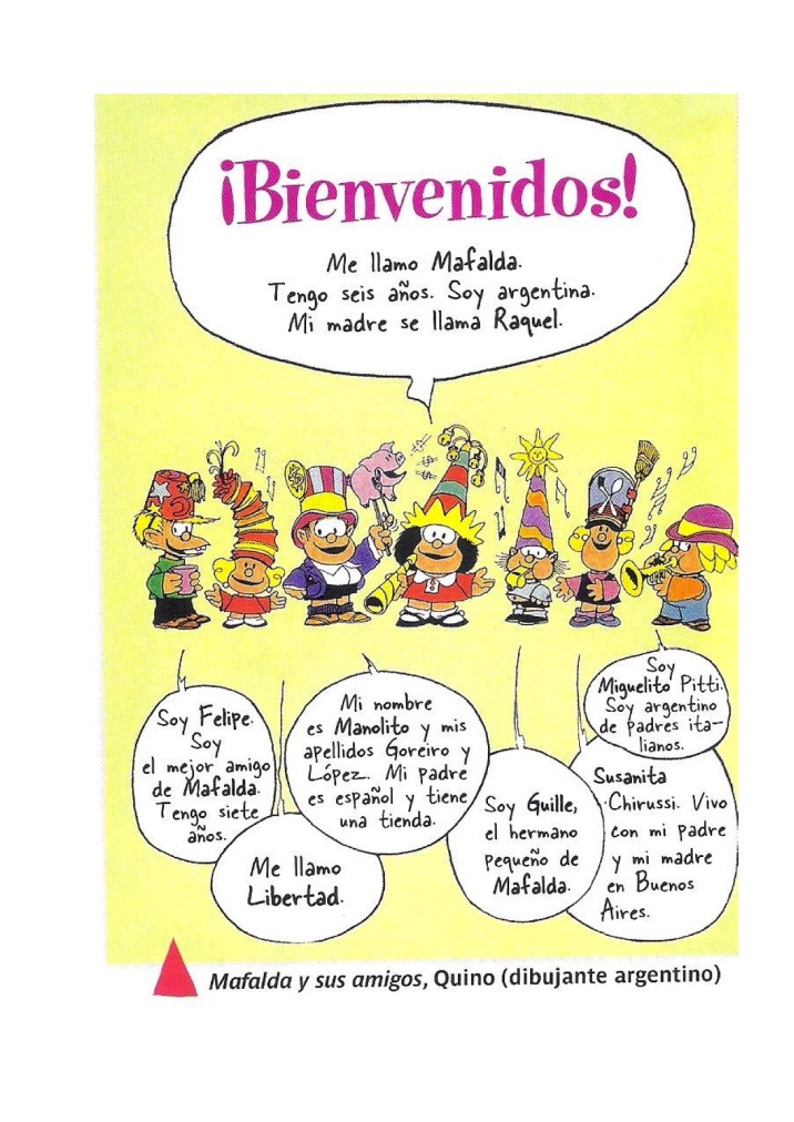 Mafalda, familia y amigos