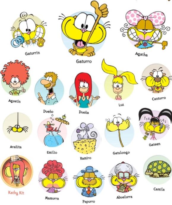 Los personajes Gaturro